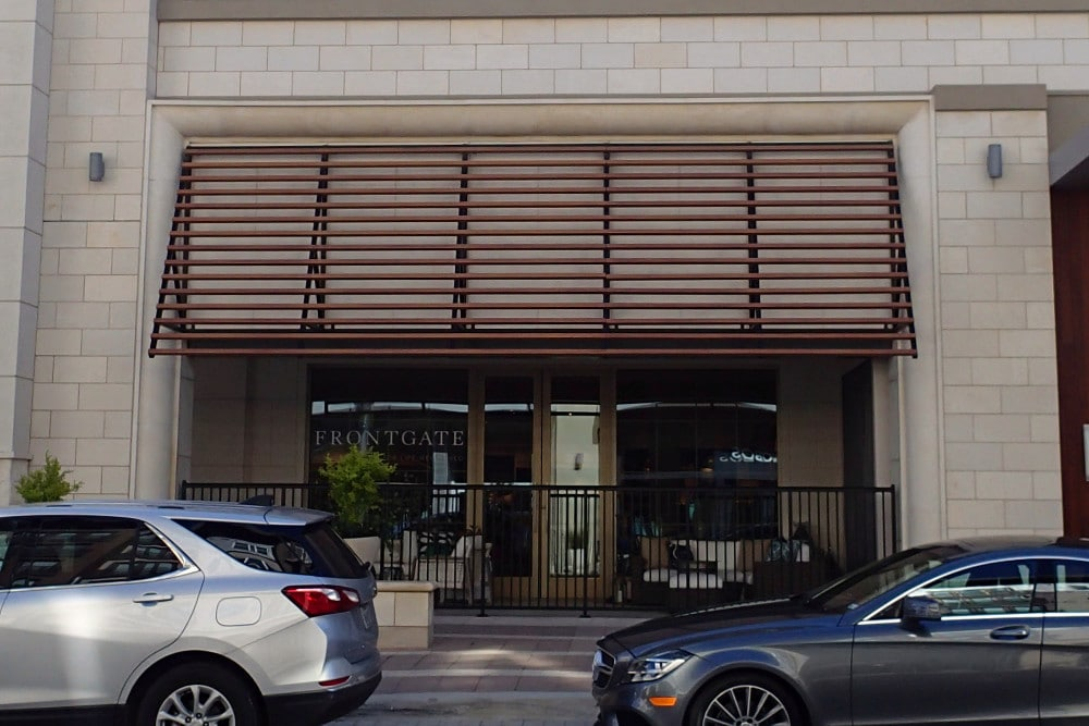 Frontgate - Wood Grain Decorative Awnings